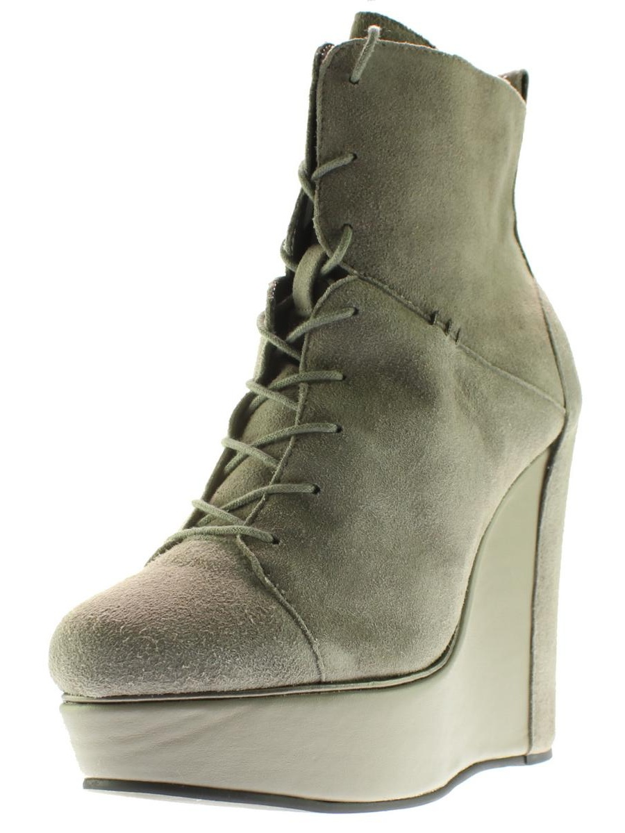 Charlotte Ronson Wedge Womens Misha Suede Seamed Wedge Ronson Boots e962a6