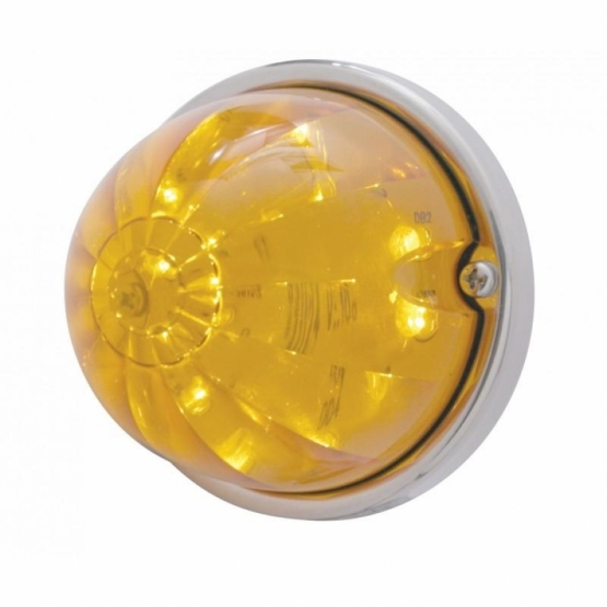 17 LED Watermelon Flush Mount Kit - Amber LED/Amber Lens