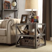 Signal Hills  Sedgwick Vintage Industrial Modern Metal Bracket End Table