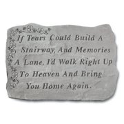 If Tears Could Build A Stairway Memorial Stone - Shamrock Design