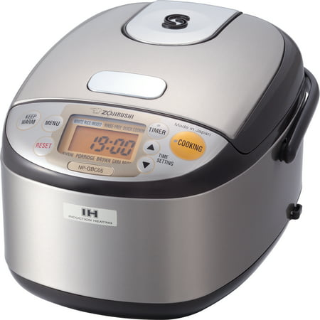 Zojirushi NP-GBC05XT 3 Cup (Uncooked) Induction Heating Rice Cooker & Warmer, Stainless Dark Brown, Made in Japan