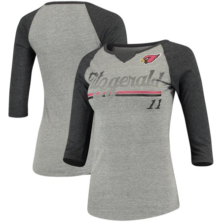 Larry Fitzgerald Arizona Cardinals Women's Juniors Over the Line Player Name & Number Tri-Blend 3/4-Sleeve V-Notch Arizona Ladies Player Series