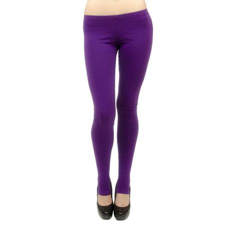 ab6698831d7061 Vivian's Fashions - Vivian's Fashions Long Leggings - Cotton/Stirrup,  Junior Size (Purple, 3X) - Walmart.com