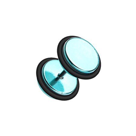 - Iridescent Metallic Coat Acrylic Fake Plug with O-Rings