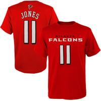 Julio Jones Atlanta Falcons Youth Mainliner Player Name & Number T-Shirt - Red