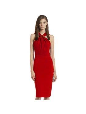 f01195b49c Product Image Unomatch Women's Slim Halter Bodycon Evening Dress