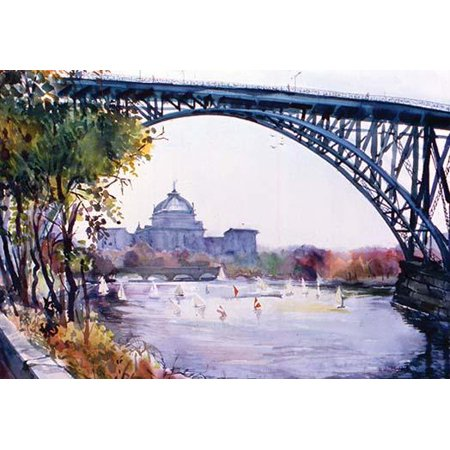 Quality Bridles (Bridge over the river  High quality vintage art reproduction by Buyenlarge  One of many rare and wonderful images brought forward in time  I hope they bring you pleasure each and every time you look a )