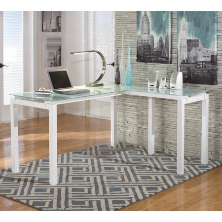 Signature Design by Ashley Baraga L-Shaped Desk 72' Contemporary L-shaped Desk