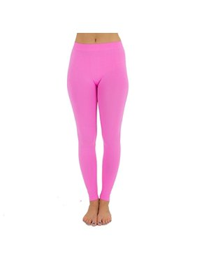 5d85f22dd Product Image TD Collections Women s Seamless Full Length Footless Tights  Basic Solid Leggings (Light Pink)