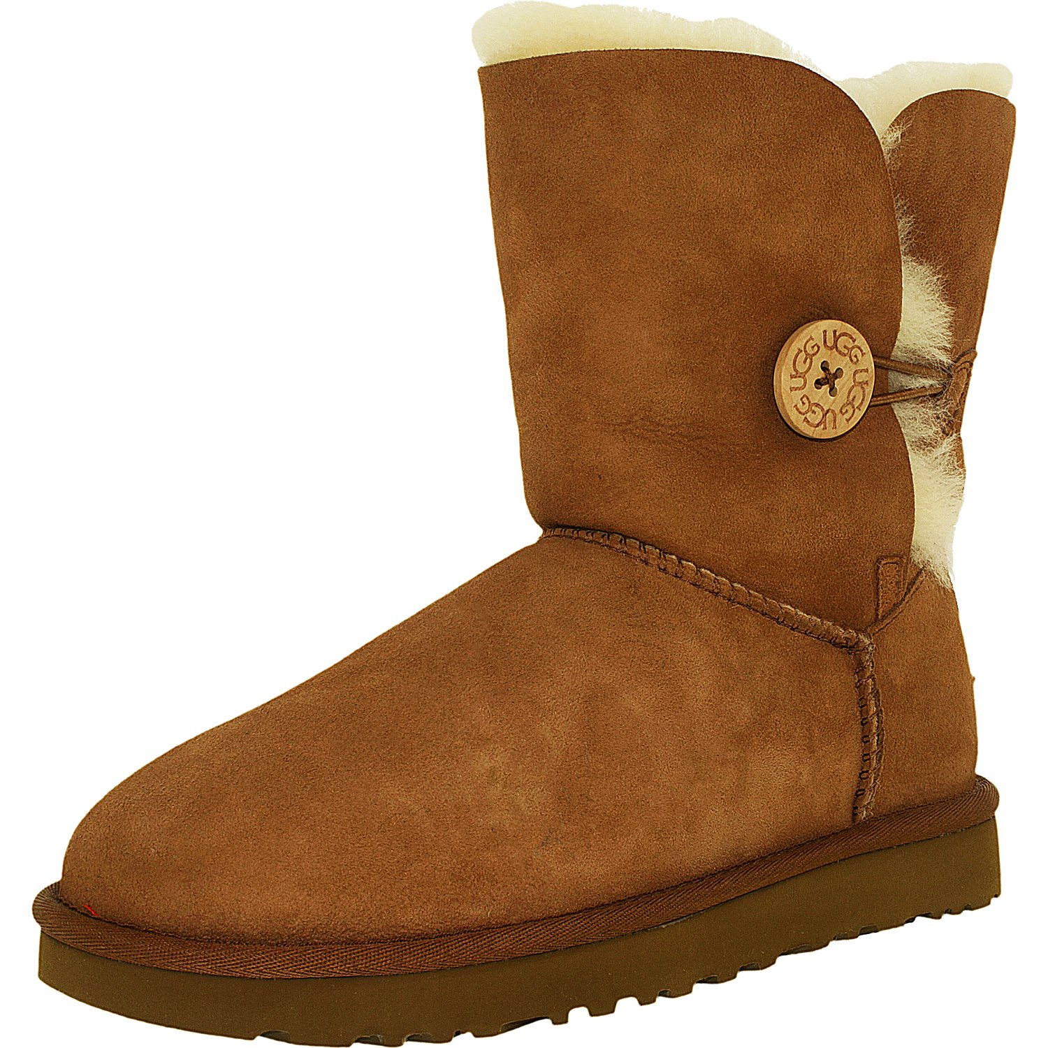 Ugg Women's Bailey Button II Chestnut High-Top Sheepskin ...