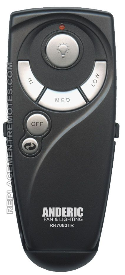 ANDERIC UC7083TR with Reverse for Hampton Bay (p n: RR7083TR) Ceiling Fan Remote Control (New) by