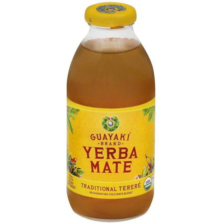 Guayaki Yerba Mate, Organic, Traditional Mate Energy Drink, 16 Fluid Ounce (Pack of 12)