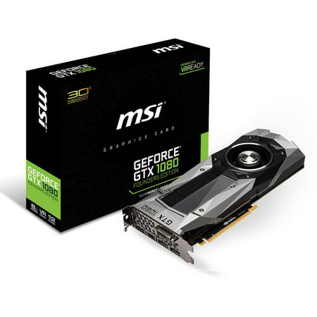 Msi Geforce Gtx 1080 Founders Edition 8Gb Gddr5x Pci Express 3 0 Graphics Card