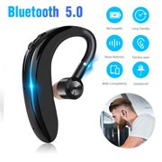 Bluetooth Headset, Wireless Earpiece Bluetooth 5.0 for Cell Phones, In-Ear Piece Hands Free Earbuds Headphone w/ Mic, Noise Cancelling for Driving, Compatible w/ iPhone Samsung Cellphone