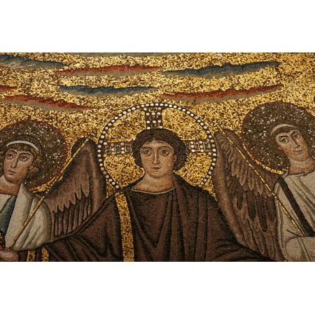 Canvas Print Ravenna Art Mosaic Italy Church Religion Stretched Canvas 10 x