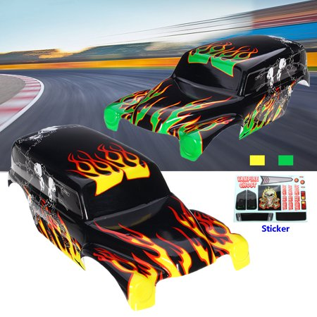 Original Green Yellow RC Car Body Shell Spare Part For