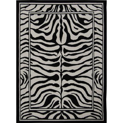 Zone Woven Polypropylene Rug, Zebra