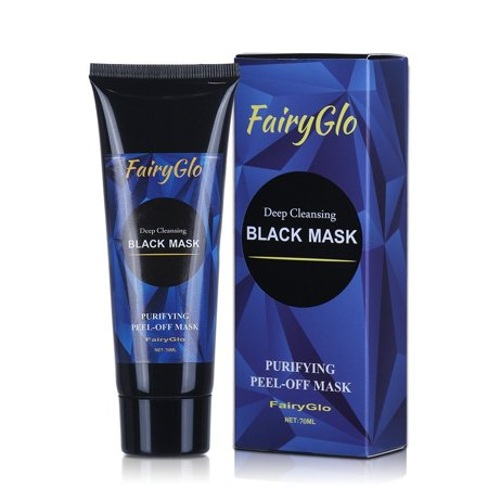 FairyGlo Charcoal Peel off Mask, Blackhead Remover Black Face Mask Activated Natural Charcoal Black Mask Purifying