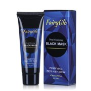 FairyGlo Charcoal Peel off Mask, Blackhead Remover Black Face Mask Activated Natural Charcoal Black Mask Purifying Mask