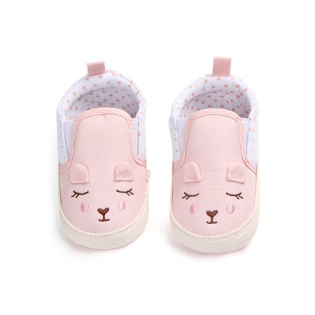 Funcee Cute Baby Girls Animal Pattern Shoes Anti-slip Crib First Walkers