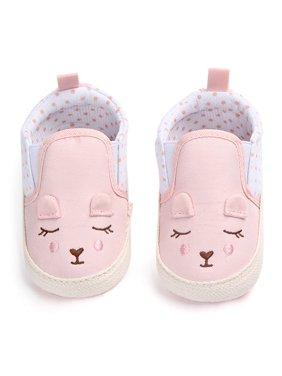 Funcee Cute Baby Girls Animal Pattern Shoes Anti-slip Crib First Walkers