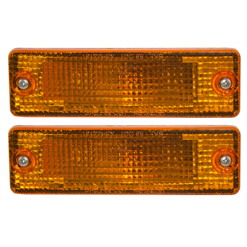Pair of Park Signal Front Marker Lights Lamps Lenses Replacement for Ford Mazda Pickup Truck UB39-51-070