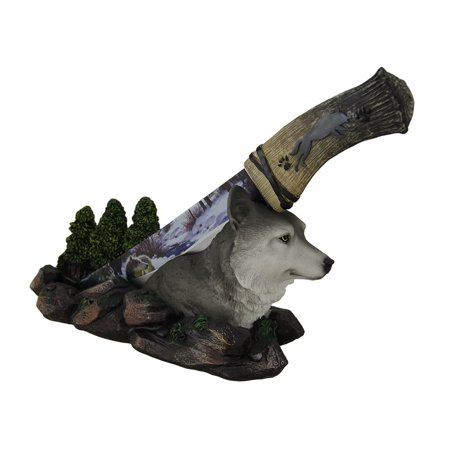 Spirit Wolf Decorative Fantasy Knife With Hand Painted Holder](Wolf Spirit)