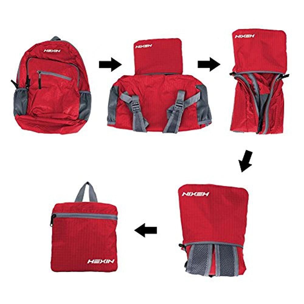 aadab71ad82c HEXIN Waterproof Rated 20L 33L Lightweight Foldable Backpack Hiking Daypack  - Walmart.com