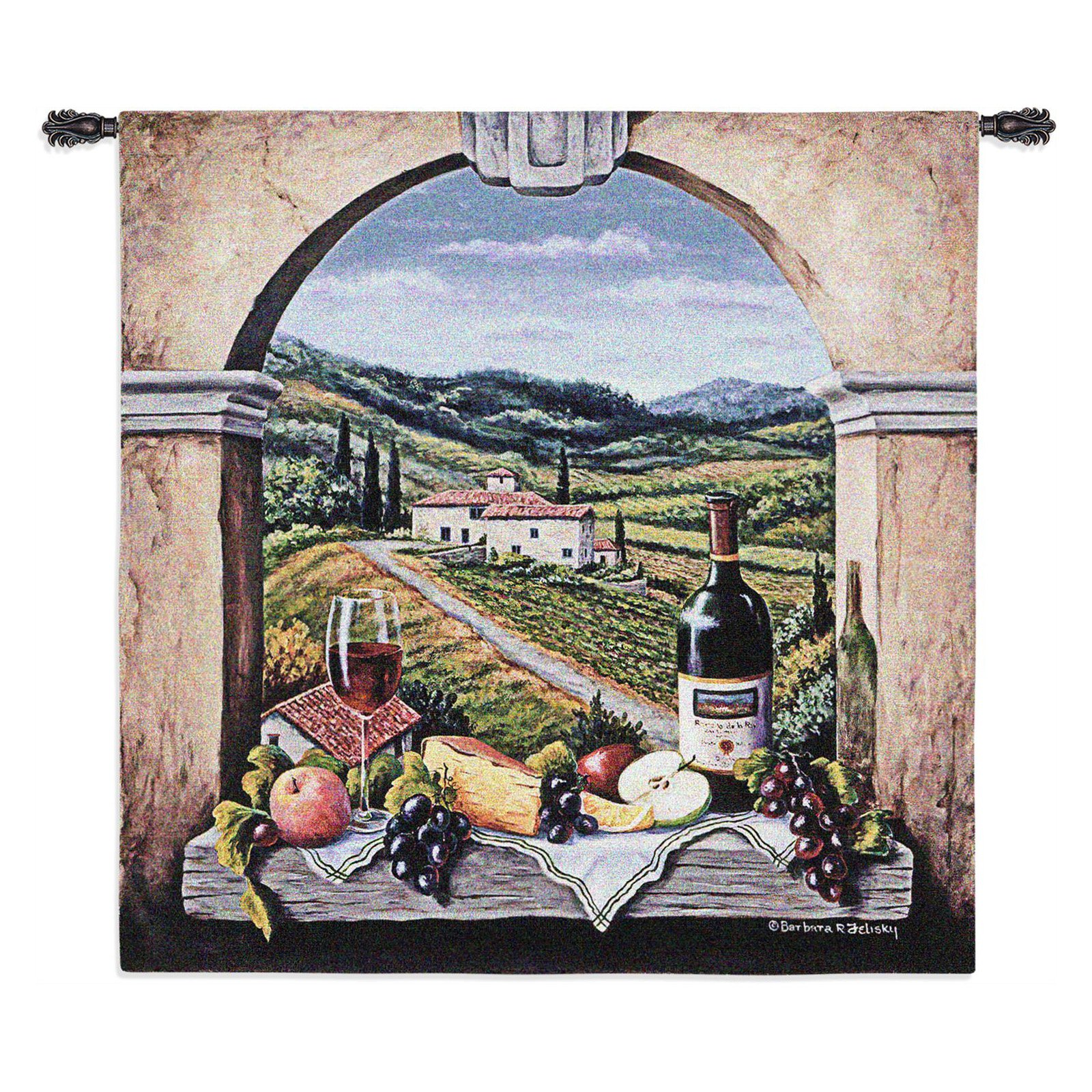 Fine Art Tapestries Vineyard Road Wall Tapestry by Supplier Generic