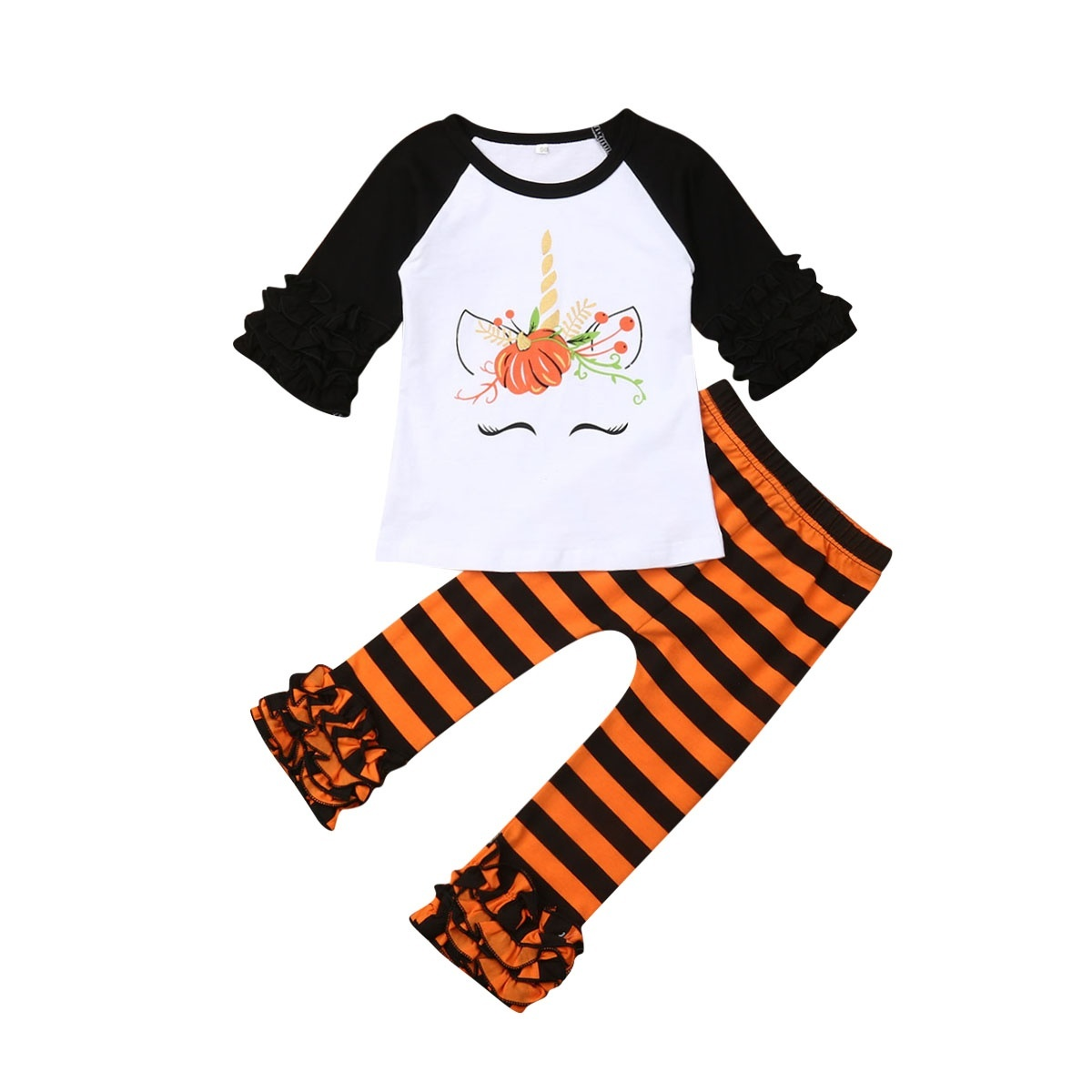 pants Kids Clothes Set 2PCS Toddler Girls Baby Outfits Stripe T Shirt Tops