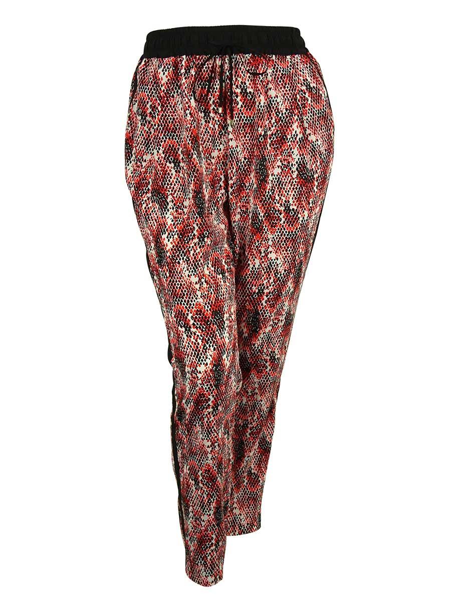 Calvin Klein Women's Printed Polyester Pants