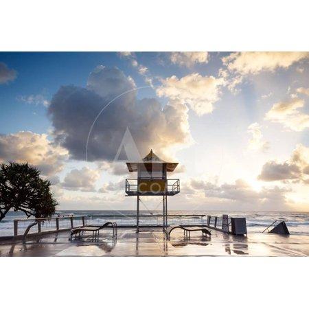 Australian Foreshore Early Morning (Gold Coast, Surfers Paradise, Qld, Australia) Print Wall Art By Pawel (Garden City Qld)
