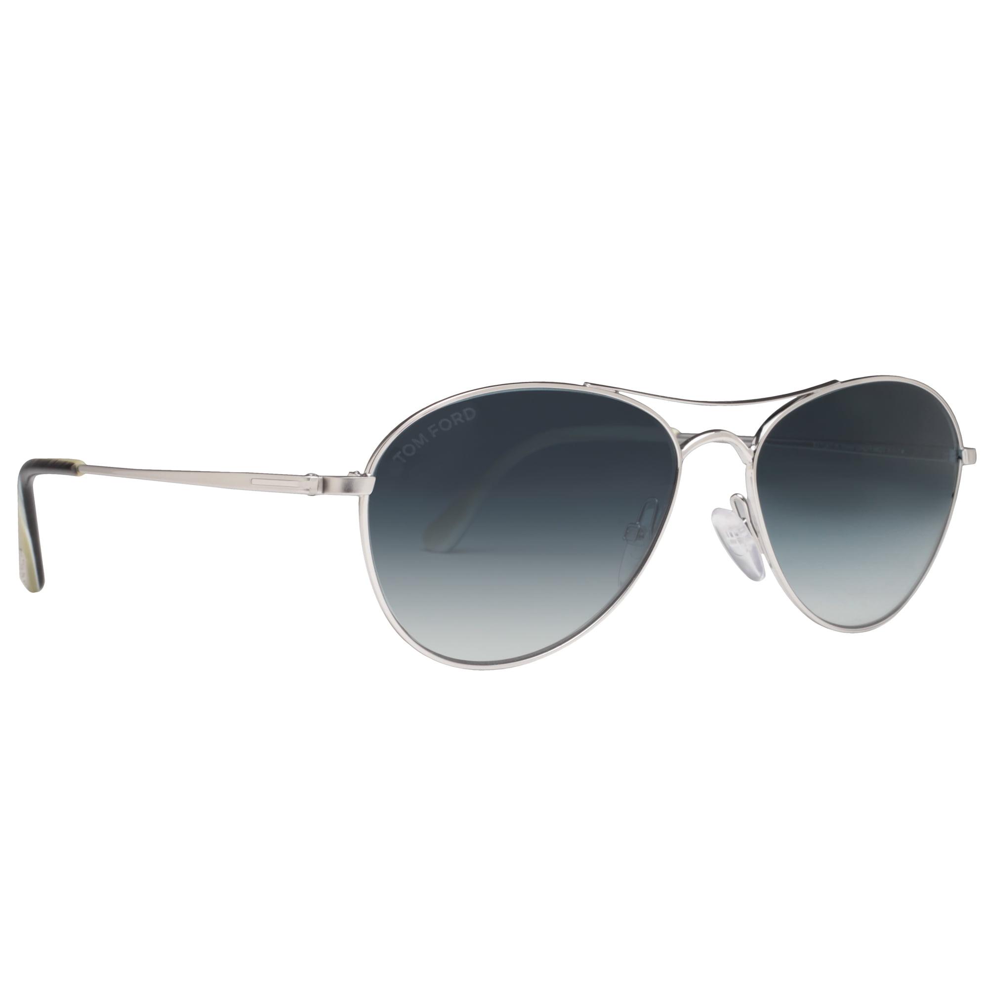 21f4eeeb06c TOM FORD - Tom Ford Oliver TF 495 18W 56mm Shiny Rhodium Blue Gradient  Aviator Sunglasses - Walmart.com