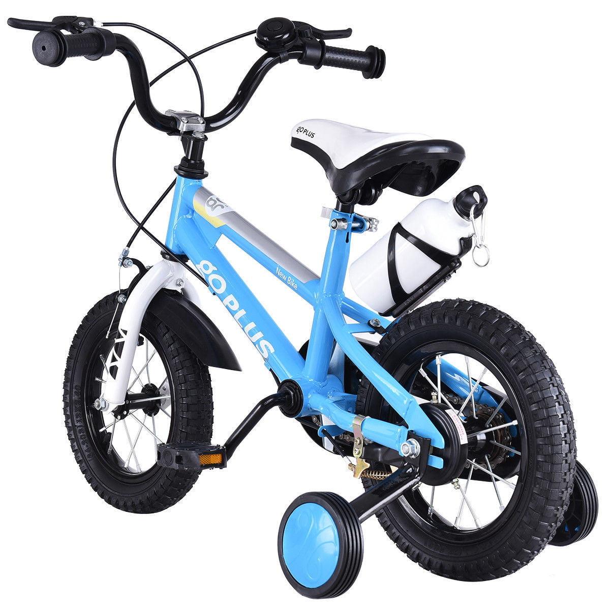 2471010b42f Goplus 16   Freestyle Kids Bike Bicycle Children Boys   Girls w Training  Wheels Blue - Walmart.com