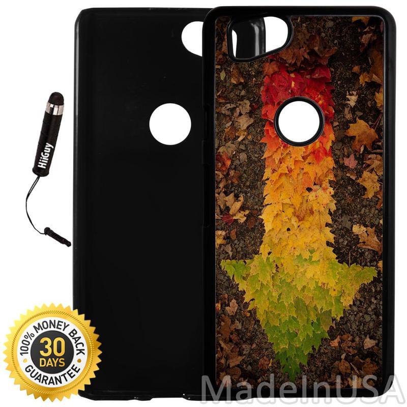 Custom Google Pixel 2 Case (Autumn Leaf Arrow) Plastic Black Cover Ultra Slim | Lightweight | Includes Stylus Pen by Innosub