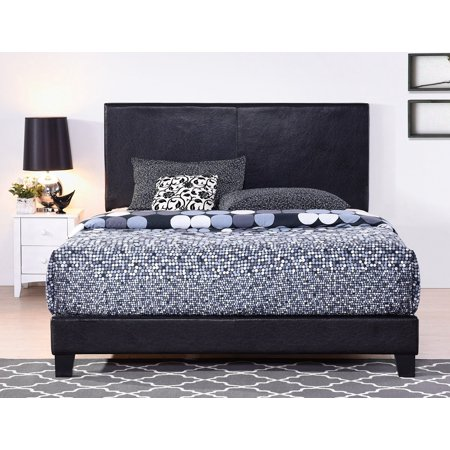 Full Size Bed Frame With Headboard Heavy Duty Faux Leather
