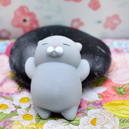 New Amusing Cute Mochi Squishy Cat Squeeze Healing Fun Kids Kawaii Toy Stress Reliever (Best Mochi In Taipei)