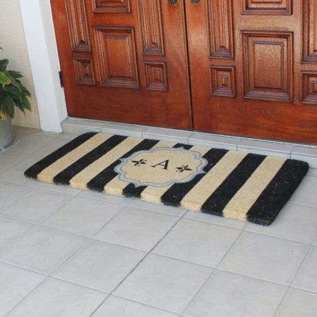 first impression haywood monogrammed entryway double outdoor door mat. Black Bedroom Furniture Sets. Home Design Ideas