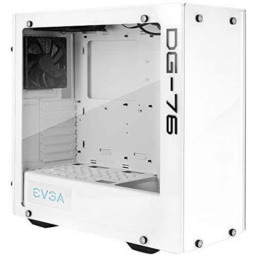 EVGA DG-76 Mid-Tower Tempered Glass Gaming Comptuer Case w/ RGB LED Alpine White