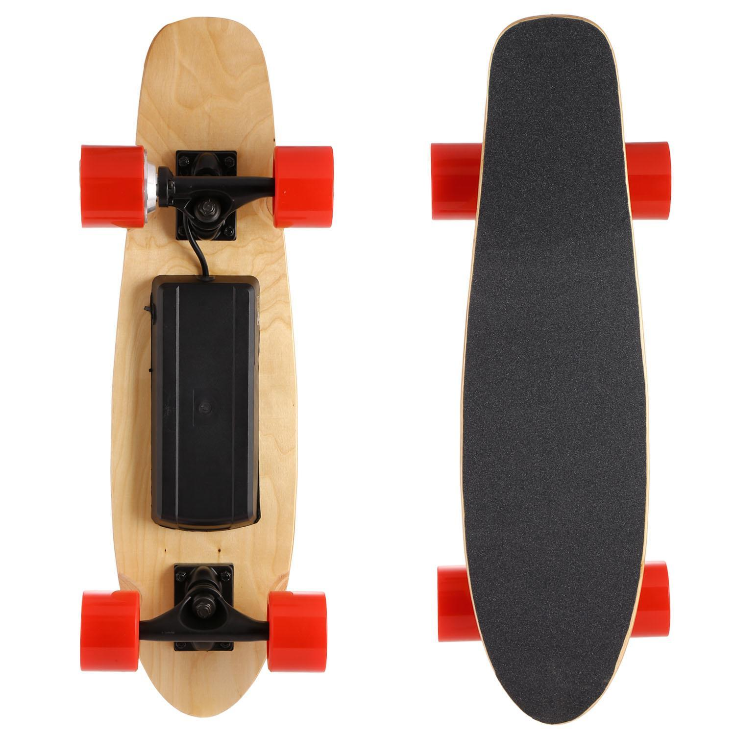 Click here to buy Longboard Electric Skateboard Board with Remote Controller for Boys Speed Up to 20 Km H BLLK.