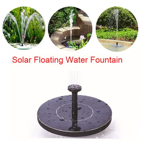 Solar Powered Floating Water Fountain Garden Pool Pond Mini Water Pump With 4 Spraying Heads for Ponds Waterfalls Bird Bath