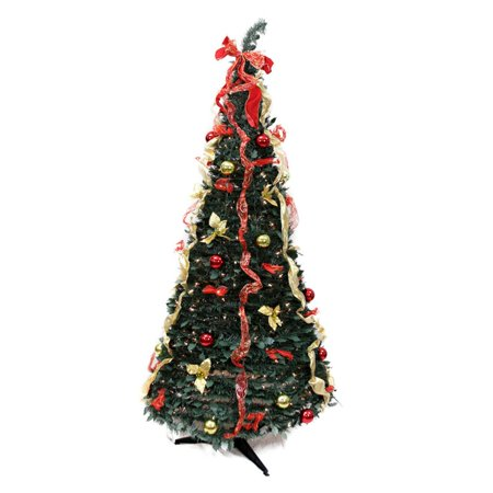 Rich Pacific 6 ft. Red and Gold Decorated Pre Lit Christmas Tree ()
