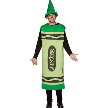 Crayola Green Adult Costume - Crayon Costumes For Adults