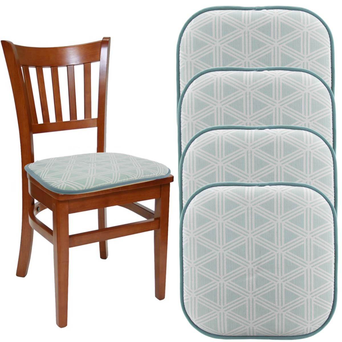 dining chair cushions tie dream home set of 4 gripper chair pads for office chairs 16 16