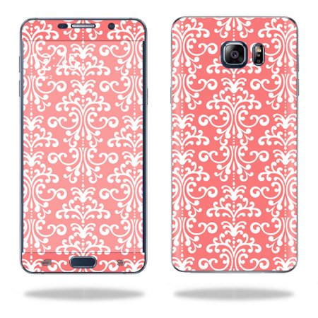MightySkins Protective Vinyl Skin Decal for Samsung Galaxy Note 5 wrap cover sticker skins Coral (Damask Note)