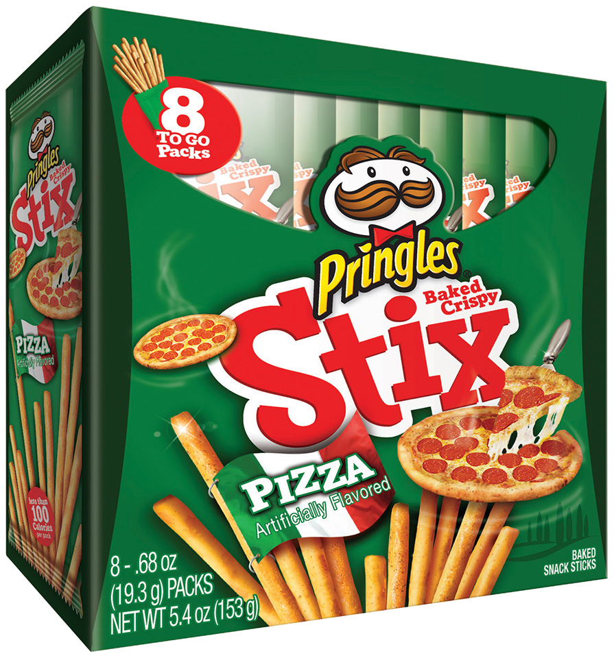 Pringles Stix Pizza Baked Snack Sticks, 0.61 oz, 8 pack
