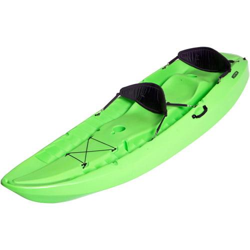Lifetime, 10', 3-Man Manta Tandem Kayak, Lime Green, with 2-Bonus Backrests