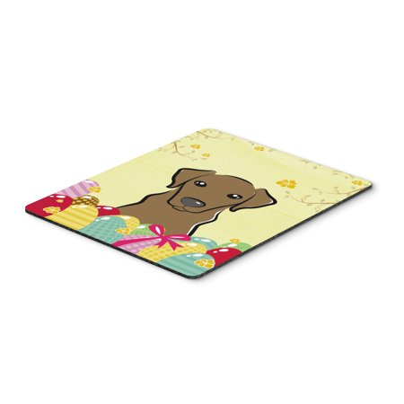 Carolines Treasures BB1916MP Chocolate Labrador Easter Egg Hunt Mouse Pad, Hot Pad or