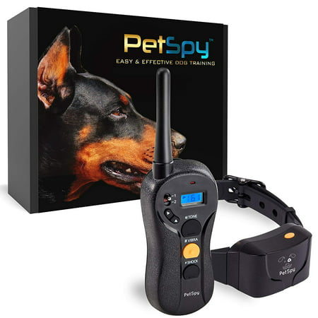 PetSpy P620 Dog Training Shock Collar for Dogs with Vibration, Electric Shock, Beep; Rechargeable and Waterproof Remote Trainer E-Collar - 10-120 lbs ()