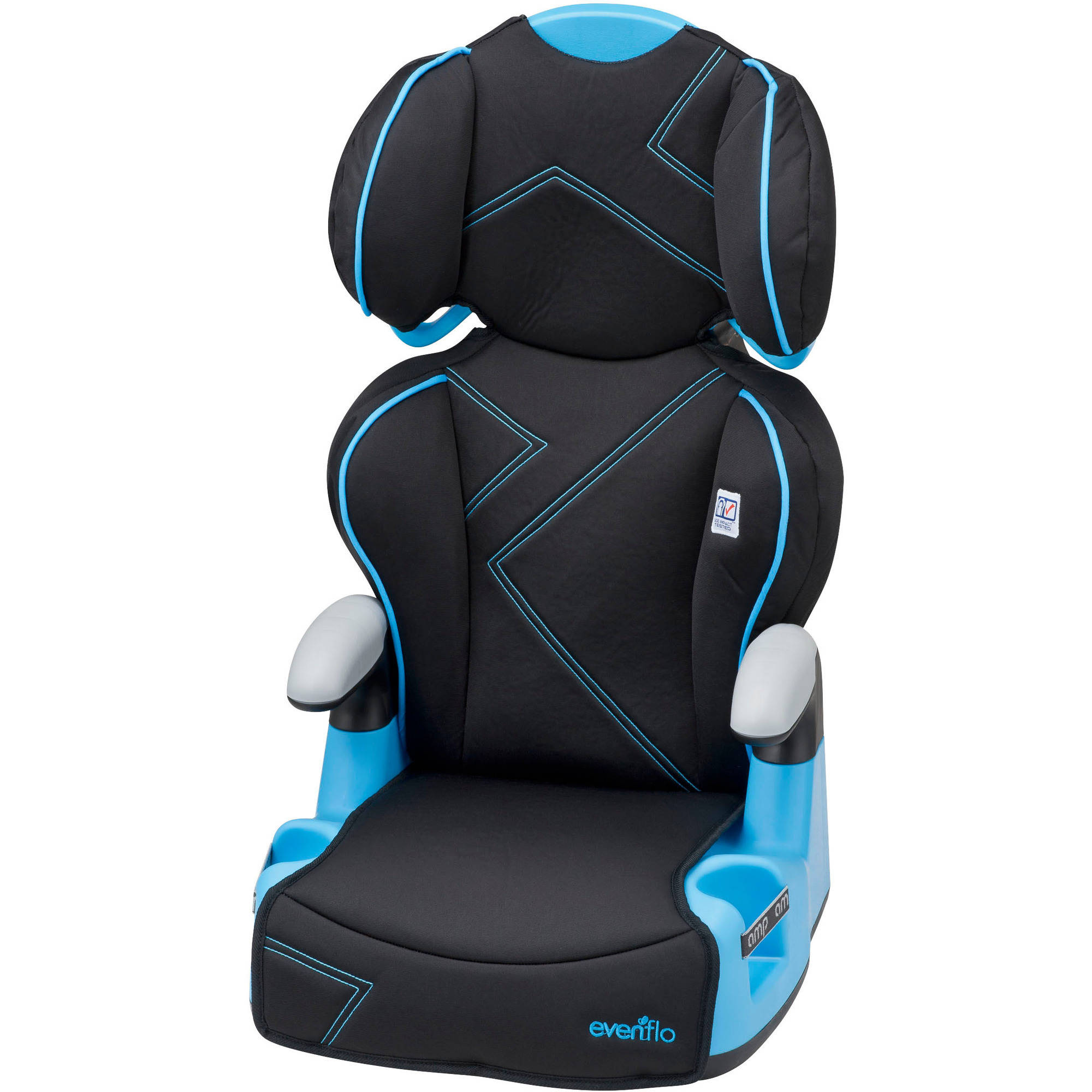 Evenflo AMP High Back Booster Car Seat, Blue Angles